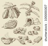freehand stroke vector... | Shutterstock .eps vector #100000307