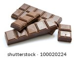 chocolate isolated on a white background - stock photo