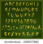 a set of letters  numbers ... | Shutterstock .eps vector #100027883