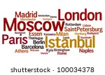 Largest cities in Europe - stock photo