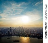 Modern City At Sunrise Shangha...