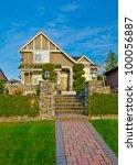 nice looking home in a... | Shutterstock . vector #100056887