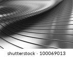 3d aluminum abstract silver... | Shutterstock . vector #100069013