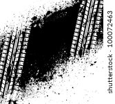 spray paint blots with tire... | Shutterstock .eps vector #100072463
