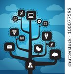 modern social media abstract... | Shutterstock .eps vector #100077593