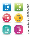 mobile phone icons | Shutterstock .eps vector #100084583