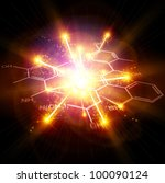 Big Bang & chemical formulas. Bitmap copy my vector - stock photo