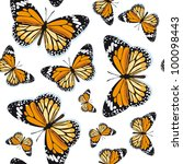 Monarch butterflies - stock vector