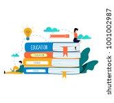 education  online training... | Shutterstock .eps vector #1001002987