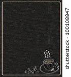 coffee menu written on blackboard background high resolution - stock photo