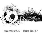 grunge background with soccer...