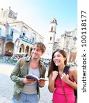 tourists couple travel having... | Shutterstock . vector #100118177
