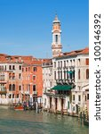 View of Grand Canal in Venice. - stock photo