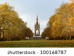 the albert memorial surrounded...