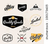 Vintage-retro inspired quality vector labels - stock vector