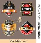 vintage wine label. vector set   Shutterstock .eps vector #100174943