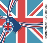 union jack background with... | Shutterstock .eps vector #100181903