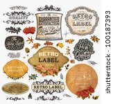 vector set  vintage labels with ...