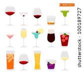 cocktail set | Shutterstock .eps vector #100189727