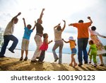 big family from  adults and... | Shutterstock . vector #100190123