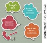 speech bubbles | Shutterstock .eps vector #100196363