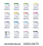 file icons - stock vector