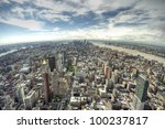 panoramic view over manhattan ... | Shutterstock . vector #100237817