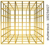 golden cage in front view | Shutterstock . vector #100256027