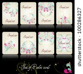set of eight beautiful floral... | Shutterstock .eps vector #100286327