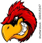 animal,beak,bird,cardinal,cartoon,head,illustration,image,mascot,red,red bird,red birds,school,sport,team