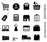 Shopping and e-commerce icon set - stock vector
