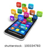 touchscreen smartphone with... | Shutterstock . vector #100334783