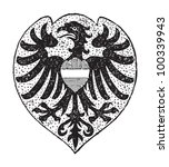 heilbronn coat of arms  city in ... | Shutterstock .eps vector #100339943
