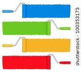 paint rollers  vector eps10... | Shutterstock .eps vector #100353173