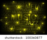 yellow music abstract... | Shutterstock .eps vector #100360877