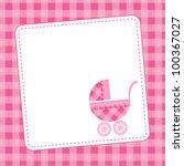 baby girl announcement card.... | Shutterstock .eps vector #100367027