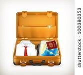 suitcase  vector | Shutterstock .eps vector #100380353