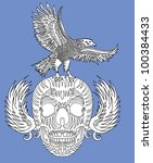 tribal eagle wings | Shutterstock .eps vector #100384433