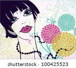 vector illustration of a woman... | Shutterstock .eps vector #100425523