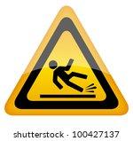 wet floor warning sign  eps10...