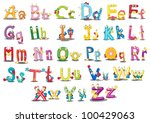 Illustration Of Alphabet...