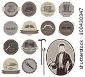 gentlemen's accessories labels  ... | Shutterstock .eps vector #100430347