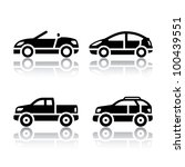Set of transport icons - cars - stock vector