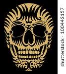 tribal skull   Shutterstock .eps vector #100443157