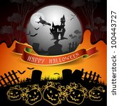 halloween card design | Shutterstock . vector #100443727
