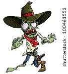 cartoon cowboy zombie with gun... | Shutterstock .eps vector #100461553