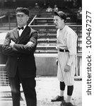 baseball player and umpire   Shutterstock . vector #100467277