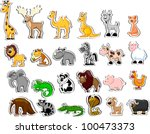 large set of animals | Shutterstock .eps vector #100473373
