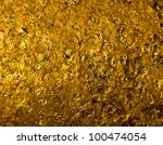gold foil background - stock photo