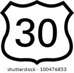 us 30 highway sign